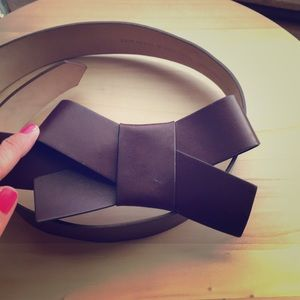 Kate spade 100% leather bow belt